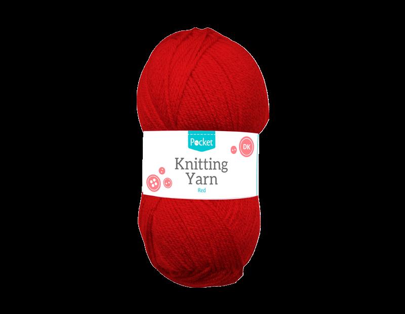 Red Acrylic Knitting Yarn 100g