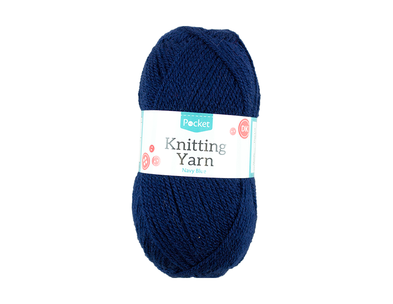 Navy Blue Acrylic Knitting Yarn 100g