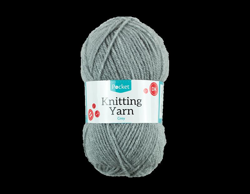 Grey Acrylic Knitting Yarn 100g