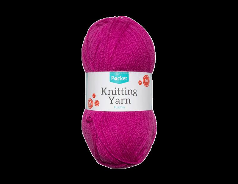 Fuchsia Acrylic Knitting Yarn 100g