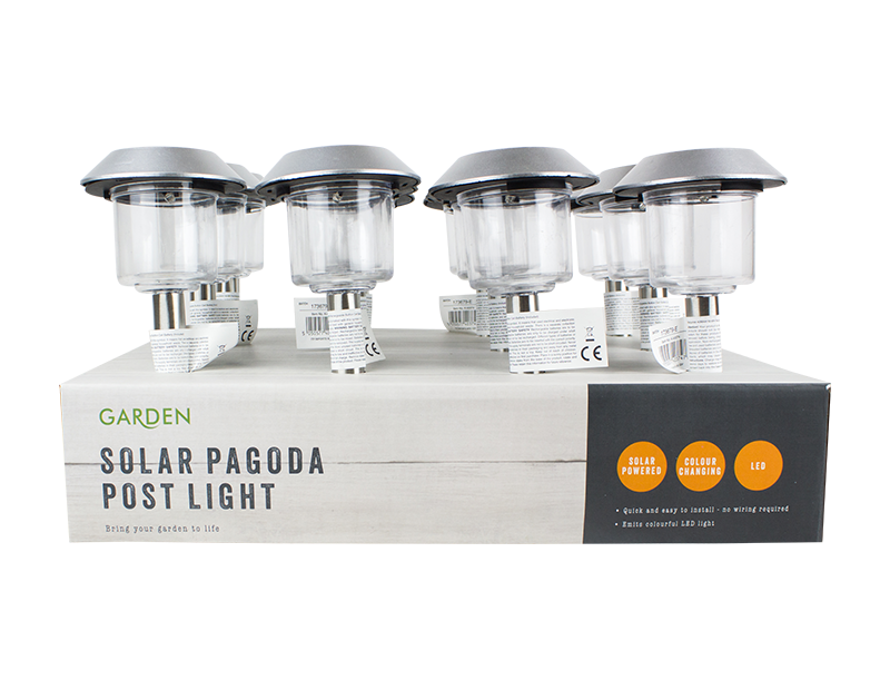Stainless Steel Solar Pagoda Light With PDQ
