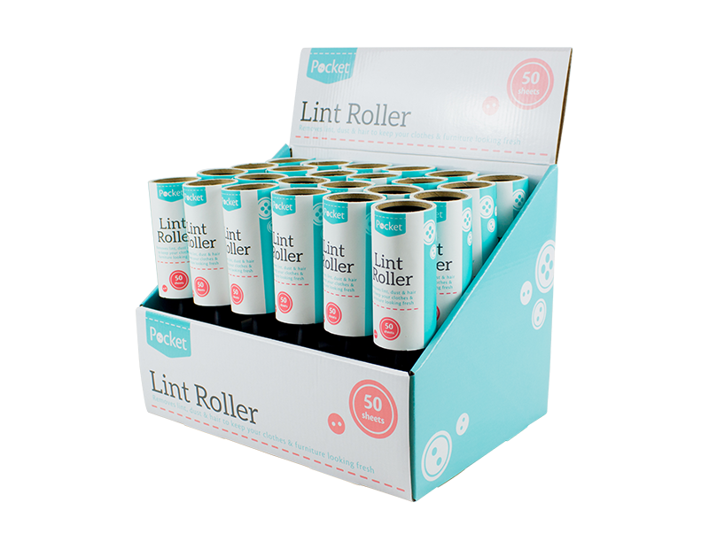 Lint Roller - 50 Sheets (With PDQ)