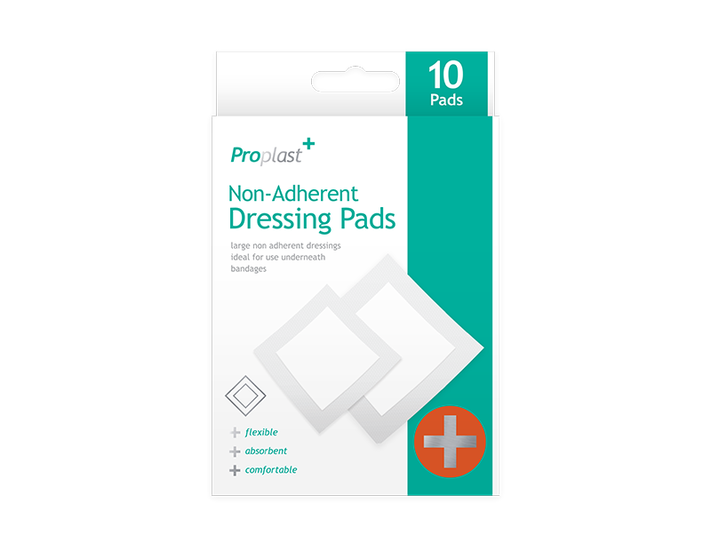 Non-adherent Dressing Pads - 10 Pack