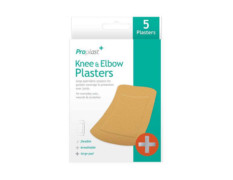 Knee & Elbow Fabric Plasters - 5 Pack