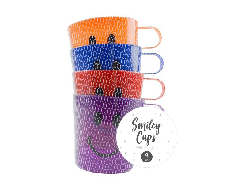 Kids Handled Party Cups - 4 Pack