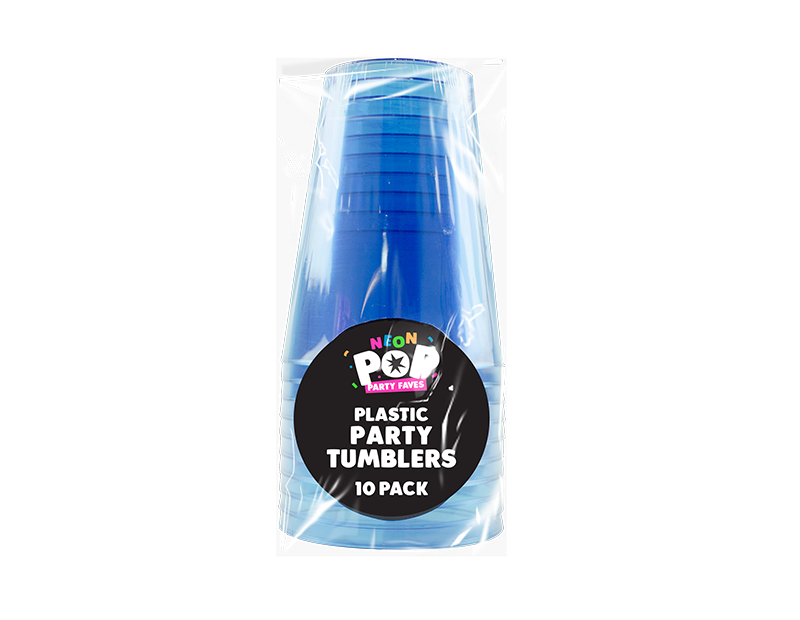 Coloured Plastic Party Tumblers - 10 Pack