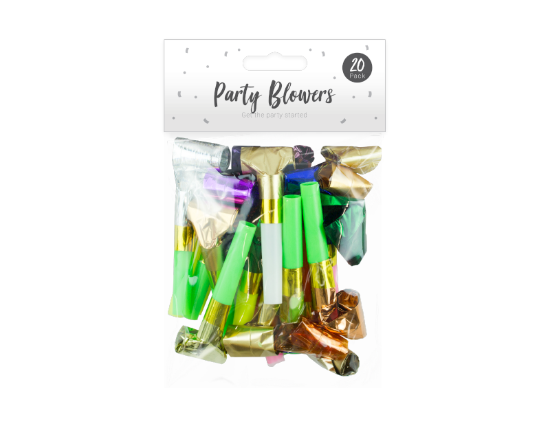 Party Blowers - 20 Pack