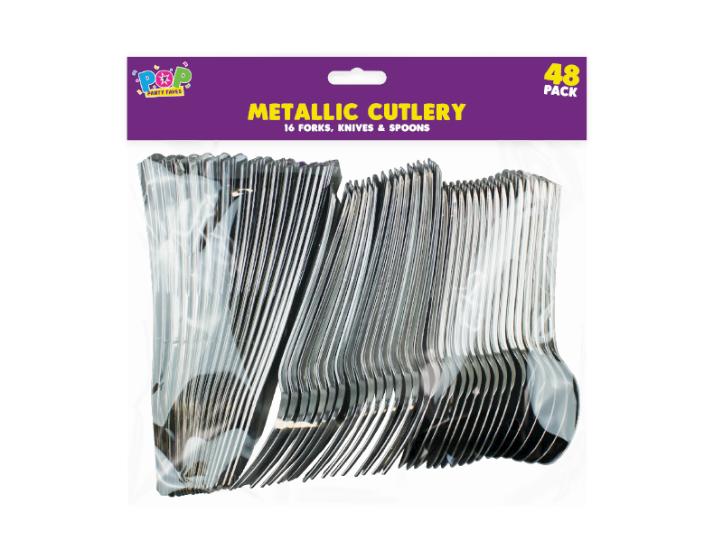 Metallic Cutlery - 48 Pack
