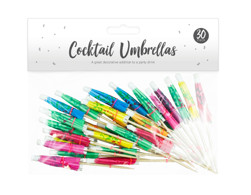 Party Cocktail Umbrellas - 30 Pack