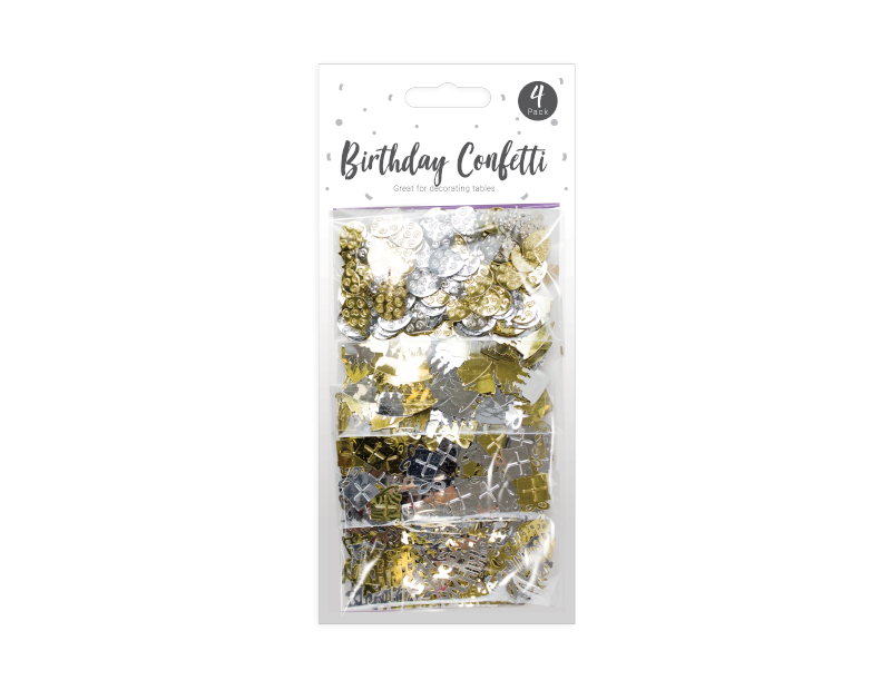 Birthday Confetti - 4 Pack