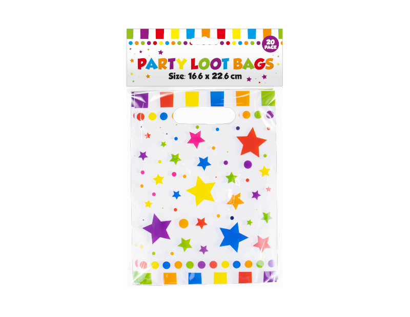 Party Loot Bags - 20 Pack