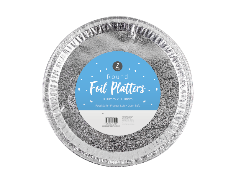 Round Foil Platters - 2 Pack