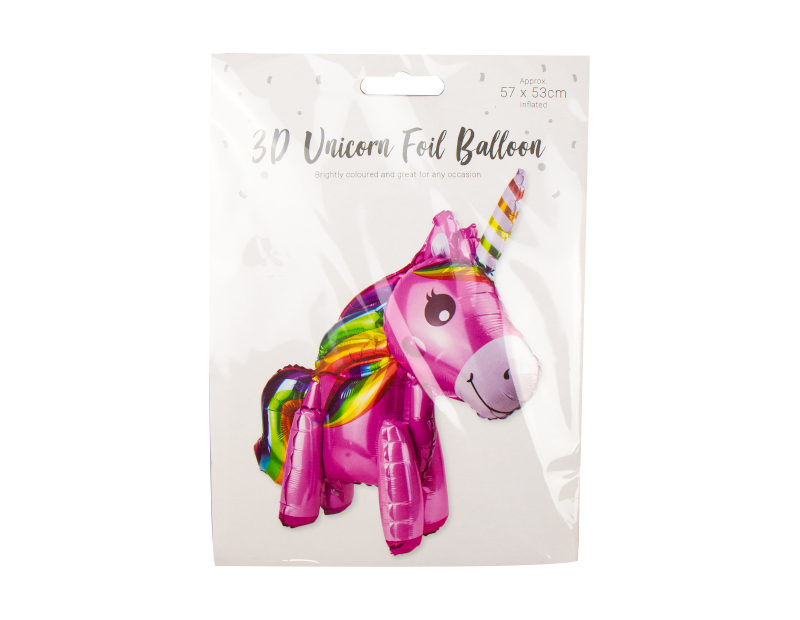 Unicorn 3D Foil Balloon