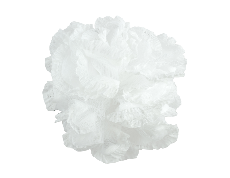 Exfoliating White Bath Ruffle