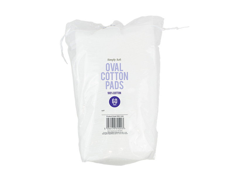 Oval Cotton Pads - 60 Pack