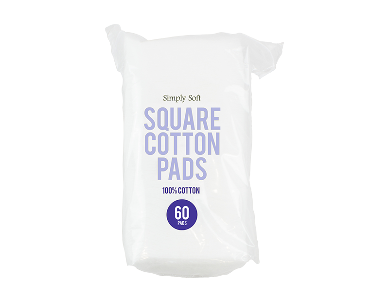 Square Cotton Pads - 60 Pack