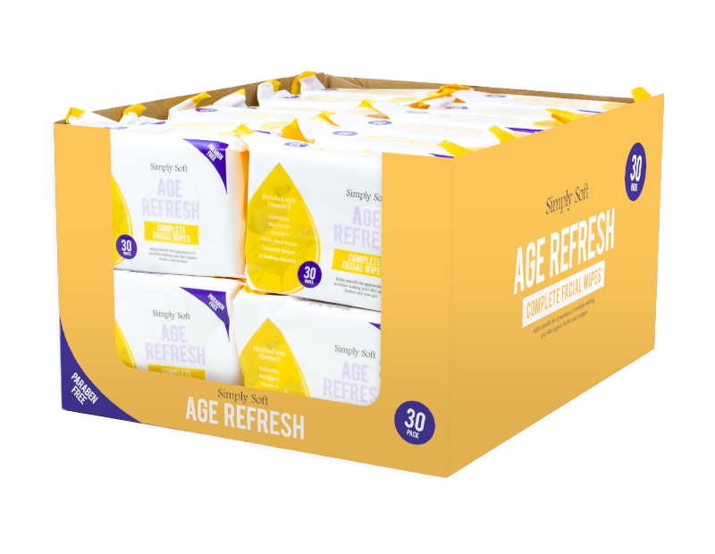 Age Refresh Facial Wipes - 30 Pack