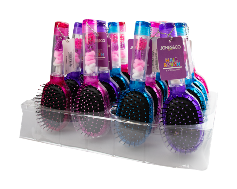 Hair Brush with Hair Accessories PDQ