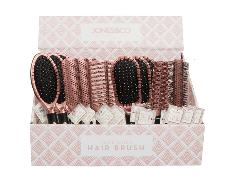 Rose Gold Hair Brush With PDQ