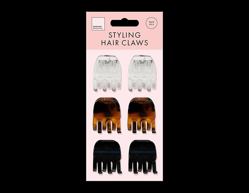 Hair Claws 6 Pack