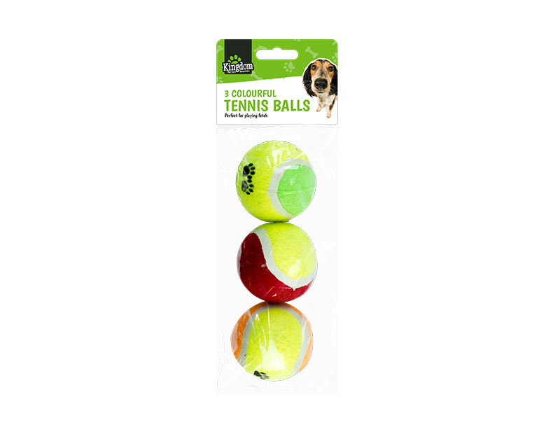 Pet Tennis Balls - 3 Pack