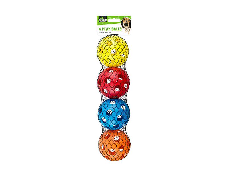 Dog Play Balls - 4 Pack
