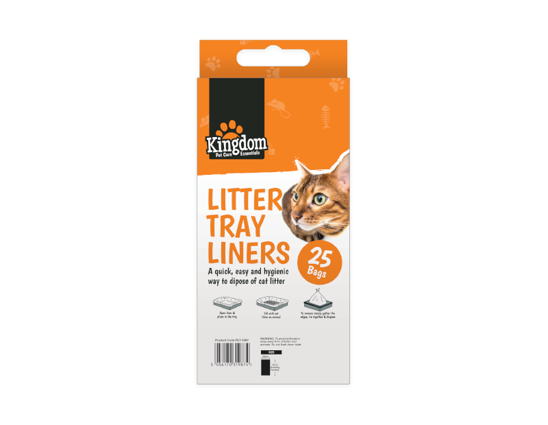 Cat Litter Tray Liners - 25 Pack