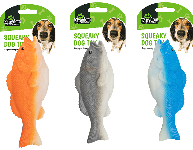 Squeaky Fish Dog Toy