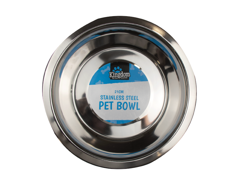 Stainless Steel Pet Bowl 21cm