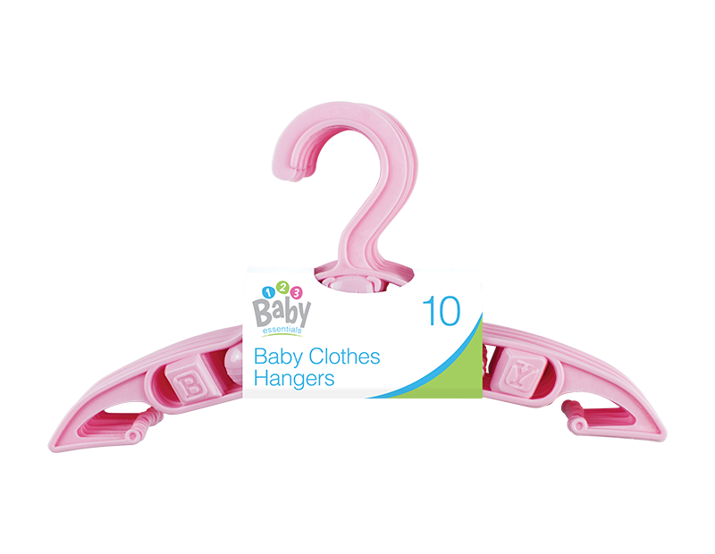 Pink Baby Clothes Hangers - 10 Pack