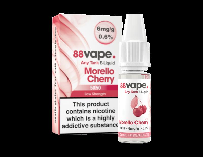88 Vape Any Tank Morello Cherry E-liquid 10ml - 6mg