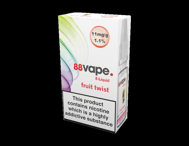 88 Vape Fruit Twist E-liquid 10ml - 11mg