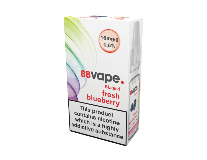 88 Vape Fresh Blueberry E-liquid 10ml - 16mg