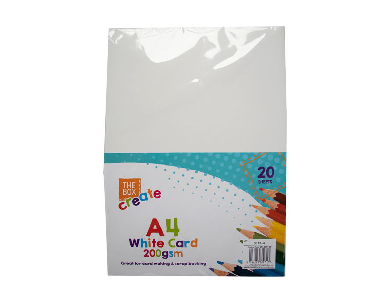 A4 White Card - 20 Pack