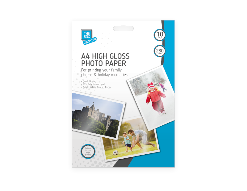 A4 High Gloss Photo Paper - 10 Pack