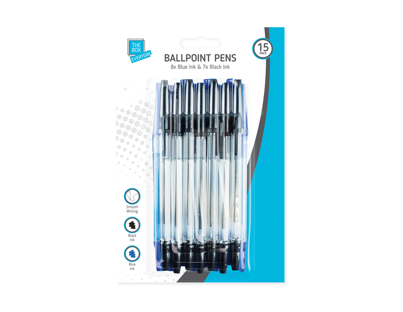 Ballpoint Pens - 15 Pack