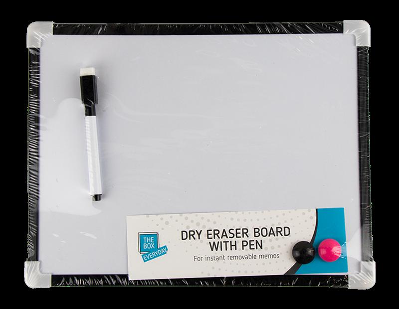 White Board & Pen Set - 4 Piece