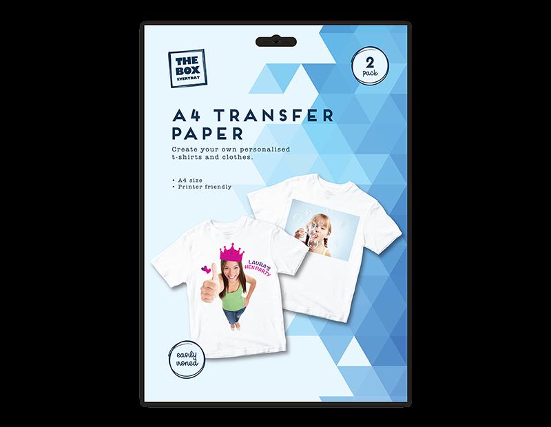 A4 T-Shirt Transfer Paper - 2 Pack