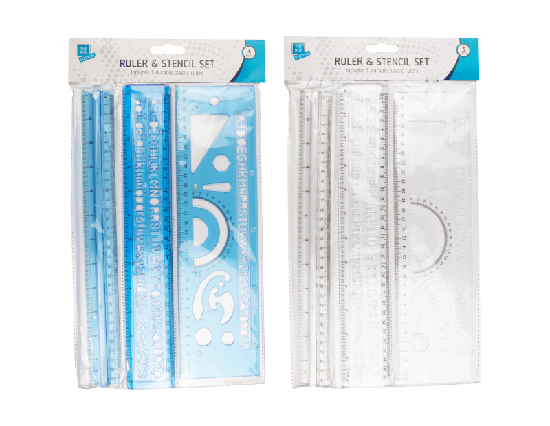 Ruler & Stencil Set - 3 Pack