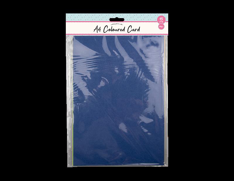 A4 Coloured Card 15PK