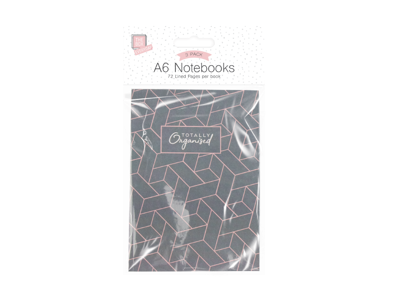 A6 Notebooks - 3 Pack