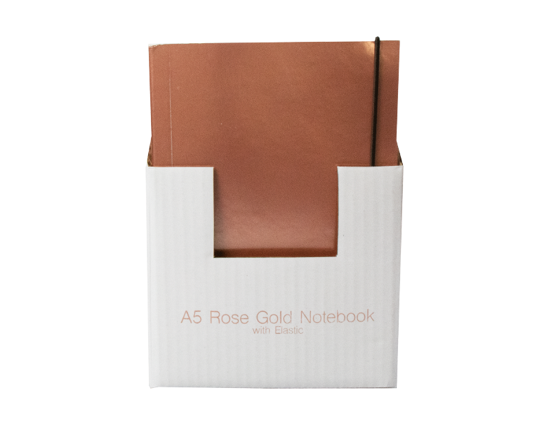 A5 Rose Gold Foil Notebook With PDQ