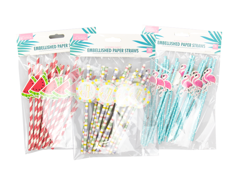 Summer Party Straws - 20 Pack