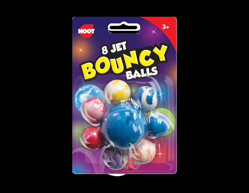 Jet Bouncy Balls - 8 Pack