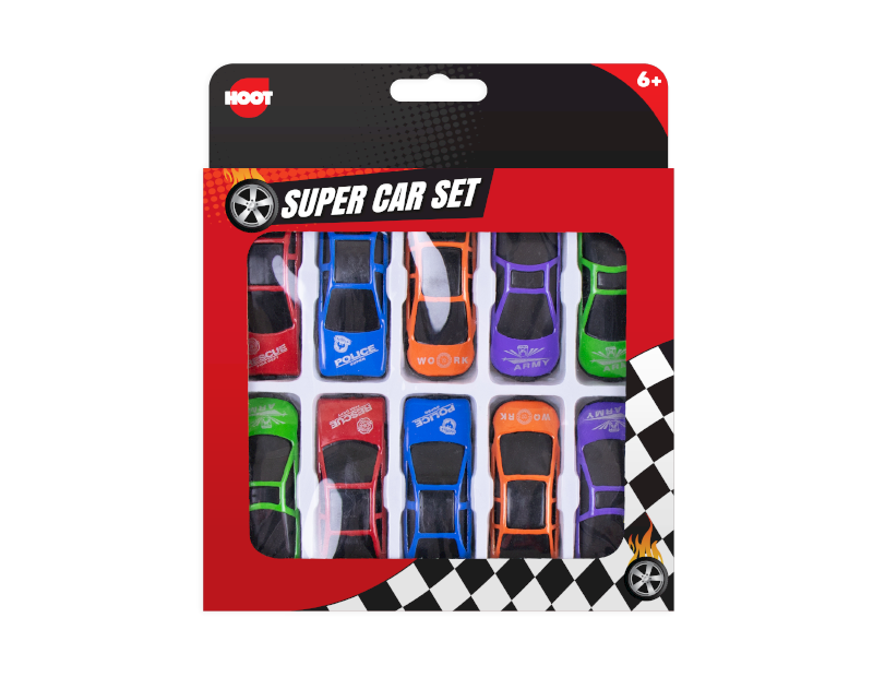 Mini Sports Cars - 10 Pack