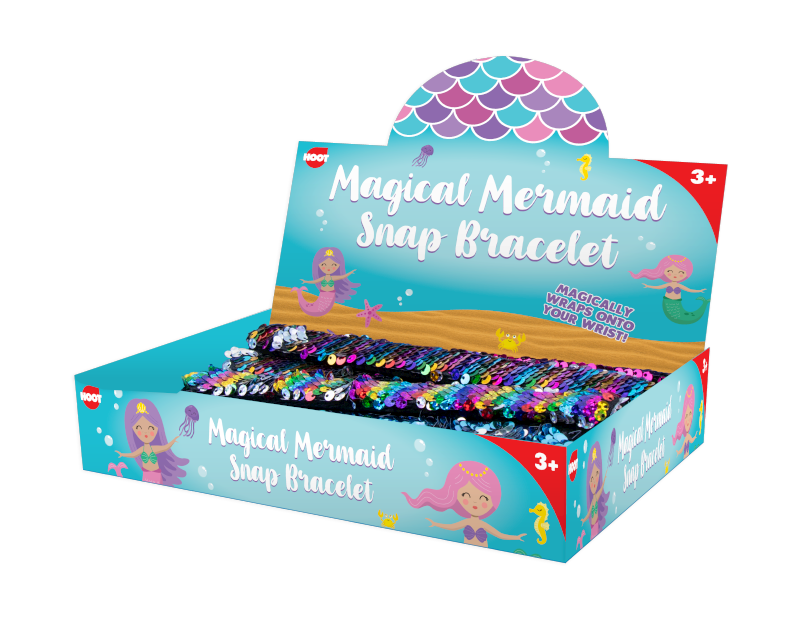Mermaid Sequin Snap Bracelet With PDQ