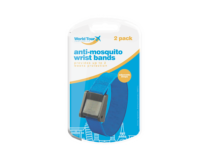 Travel Mosquito Wrist Bands - 2 Pack
