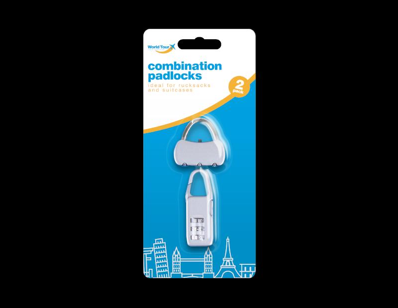 Combination Padlocks - 2 Pack