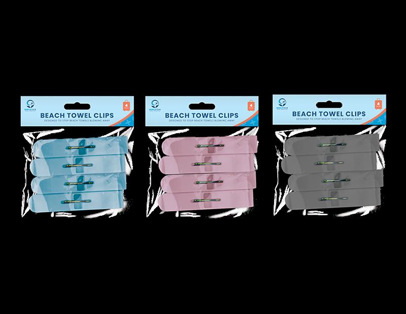 Beach Towel Clips - 4 Pack