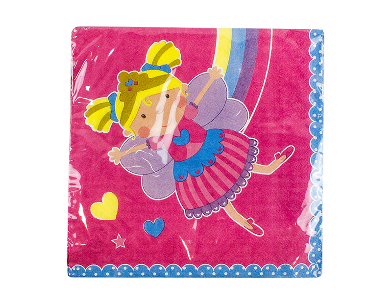 Girls 3-Ply Party Napkins 33cm x 33cm - 20 Pack